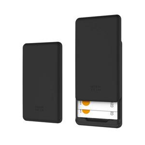 핸드폰 부착형 슬라이더 카드 수납 케이스_블랙, 디자인스킨 케이스 몰, 커플케이스, 튼튼한케이스, 고급케이스, 아이폰케이스, 갤럭시케이스, 자수케이스