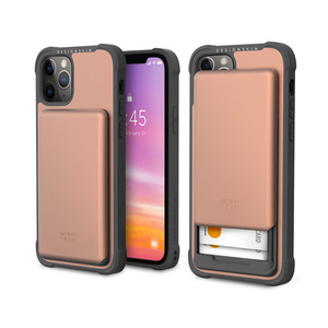 아이폰12 슬라이더 카드 케이스_로즈골드, 디자인스킨 케이스 몰, 커플케이스, 튼튼한케이스, 고급케이스, 아이폰케이스, 갤럭시케이스, 자수케이스