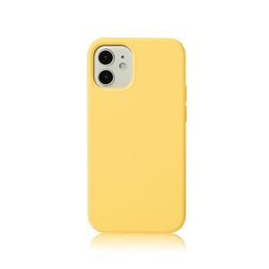 아이폰12/12프로/12미니 실리콘케이스 라이트 옐로우, 디자인스킨 케이스 몰, 커플케이스, 튼튼한케이스, 고급케이스, 아이폰케이스, 갤럭시케이스, 자수케이스