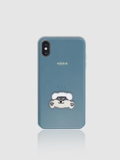 아이폰 슬라이더 부클 카드케이스- 따뜻하개, 디자인스킨 케이스 몰, 커플케이스, 아이폰케이스, 갤럭시케이스, 자수케이스