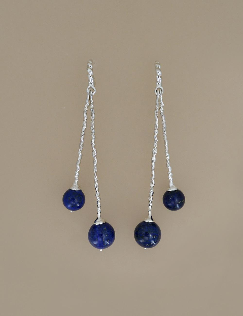 Lapis Lazuli Long Drop Earring