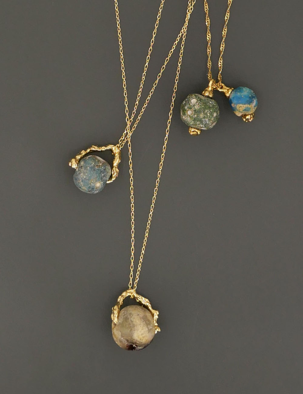 Ancient Roman Glass Ball Necklace
