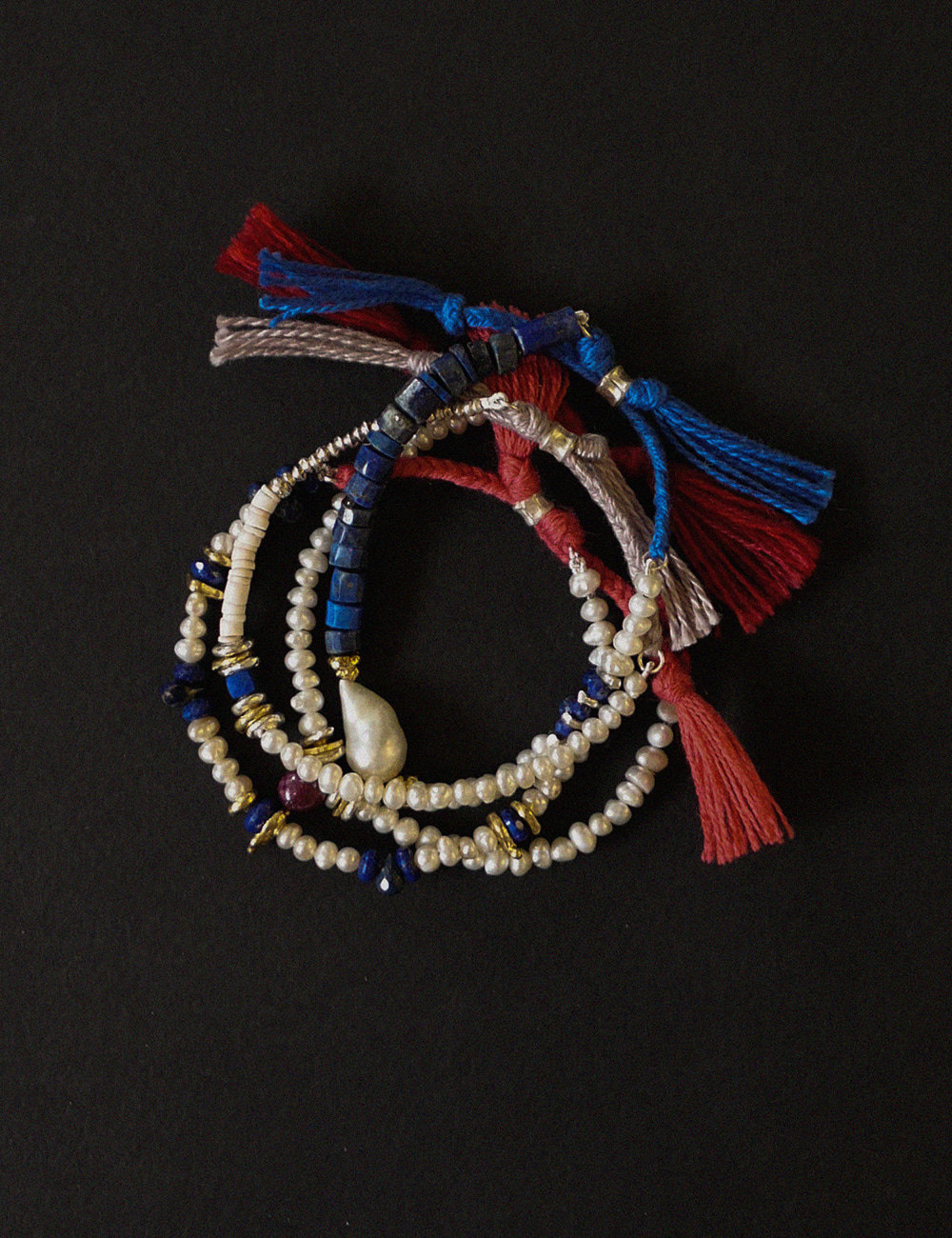 Upcycled One-of-a-kind Bead Bracelet / A