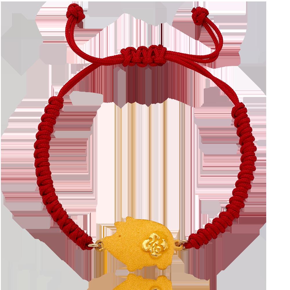 Pure gold 3.75g Oriental Zodiac Pig The first birthday baby bracelet