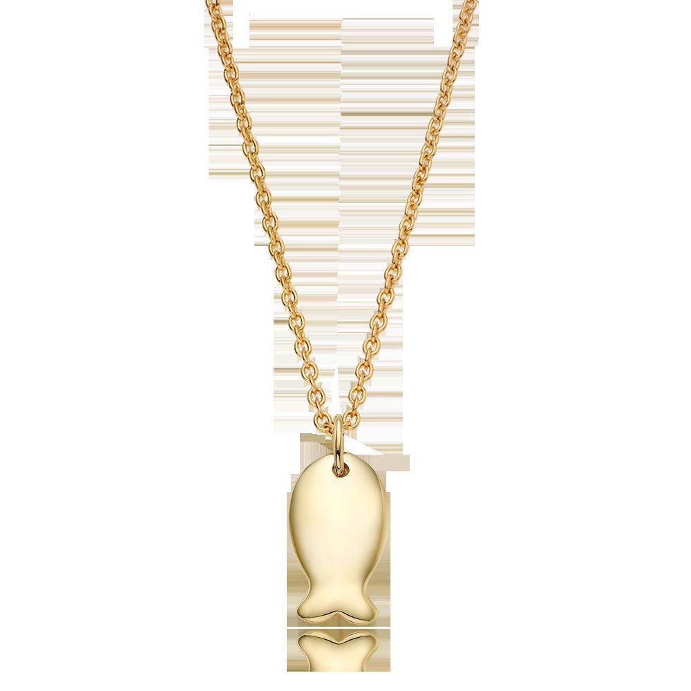 14K/ 18K NEWGold Carp Necklace