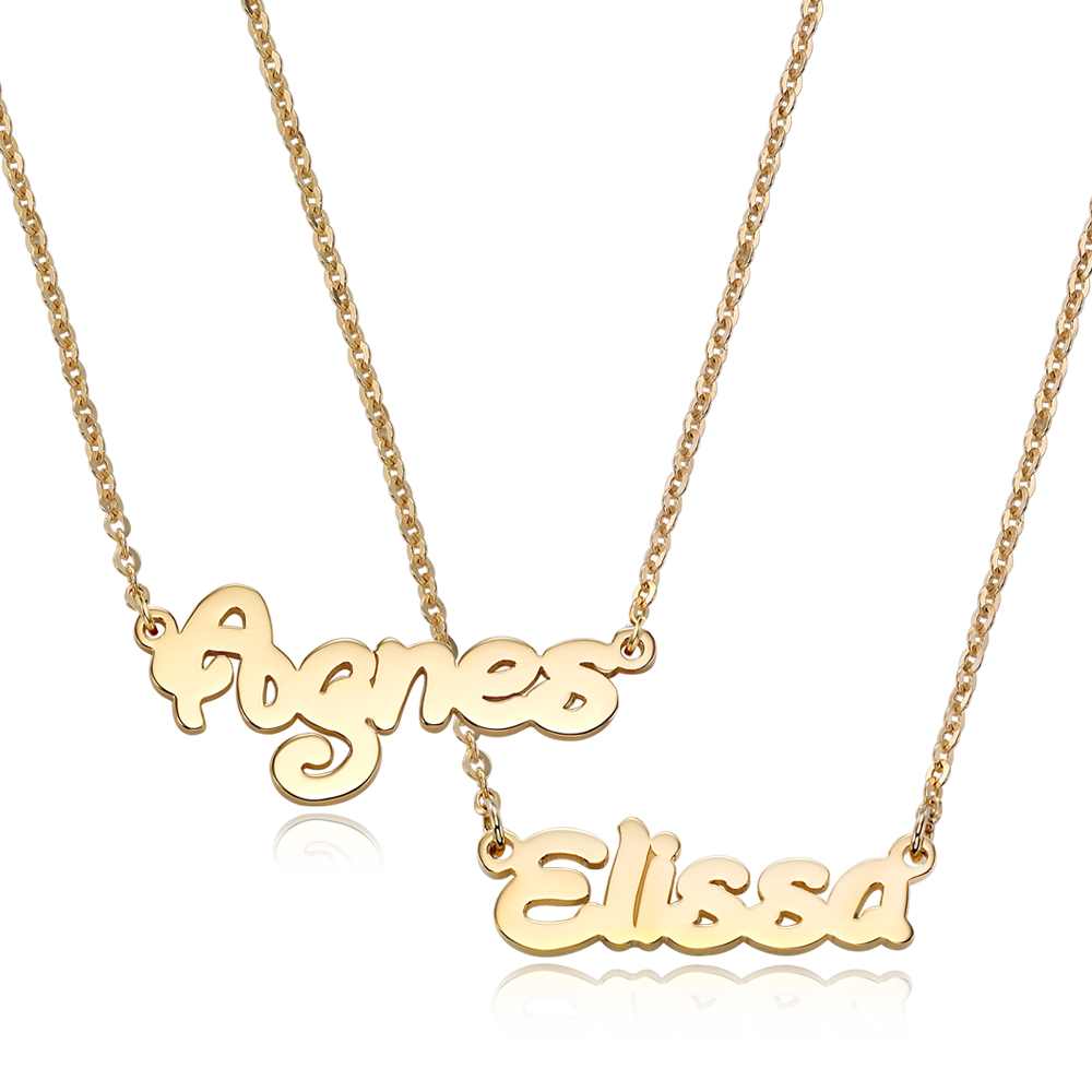 [With My Child] 14K Gold Junior Name Necklace