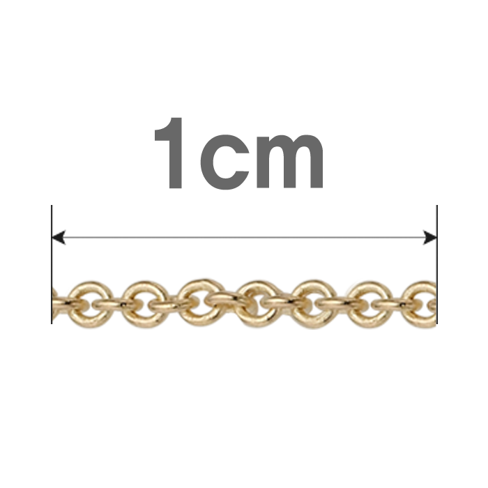 14K /18K 0.3 Cable Chain 1cm Extension Select as many as the length to add
