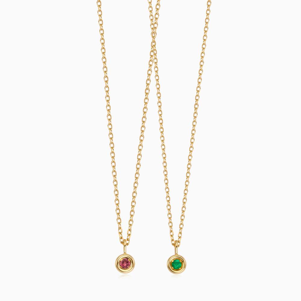 [With my friend] 14K/18K Gold Birthstone Necklace