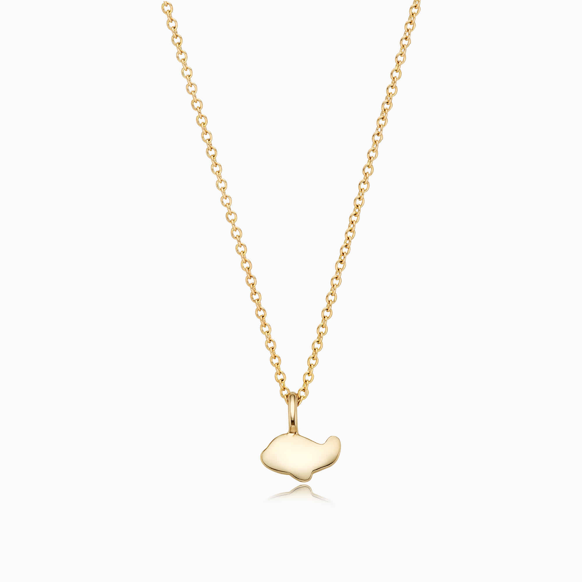 14K/18k Gold Simple Mini Airplane Necklace