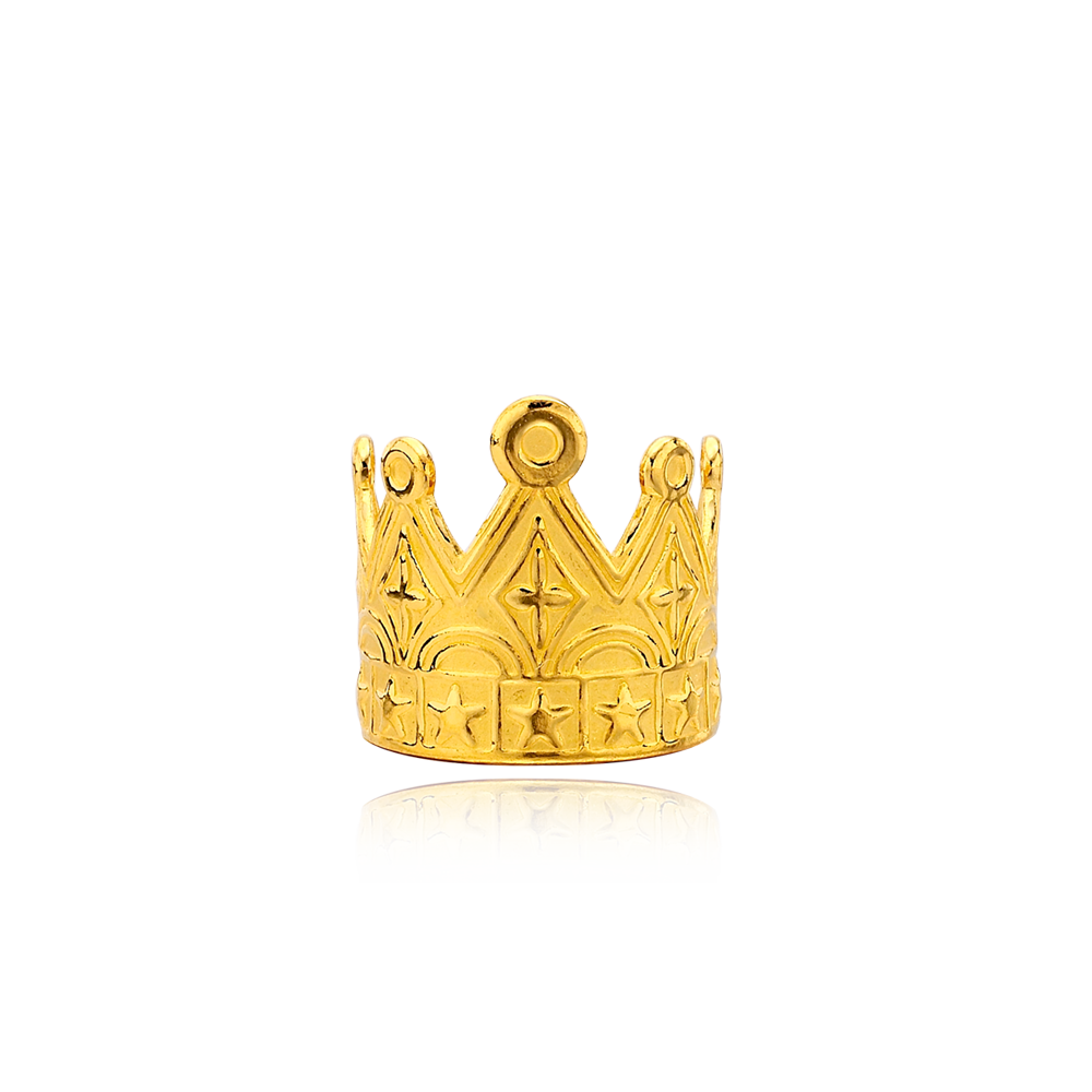 Pure gold 3.75g Pointed crown baby ring