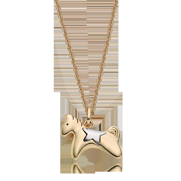14K/18K Gold Oriental Zodiac Horse Necklace