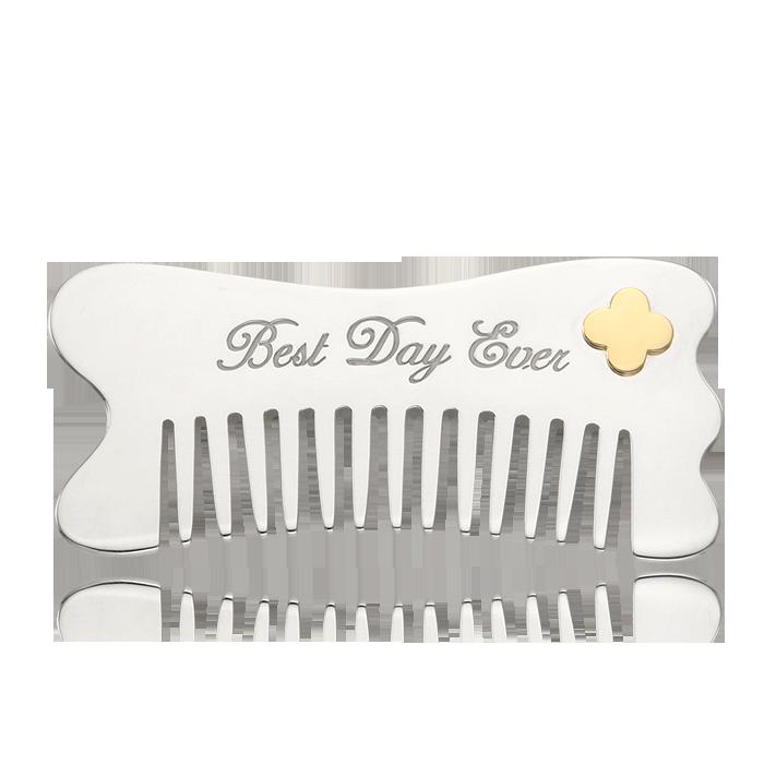 Silver Comb- Wave Shape 5K Gold Decoration[Gua Sha Tool]