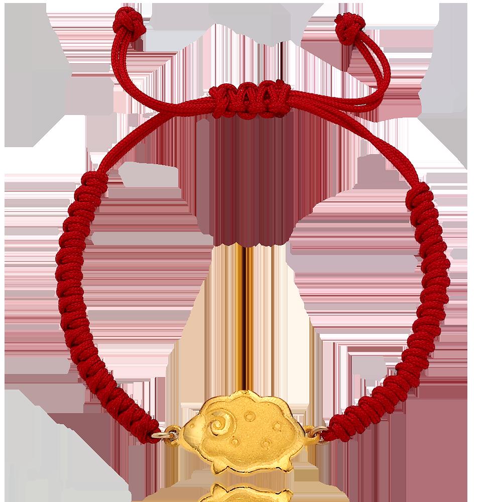 Pure gold 3.75g Oriental Zodiac Sheep The first birthday baby bracelet