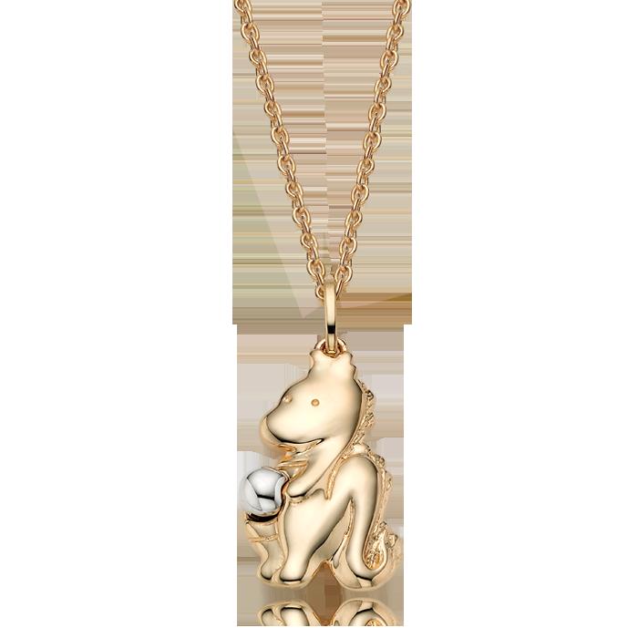 14K/18K Gold Oriental Zodiac Dragon Necklace