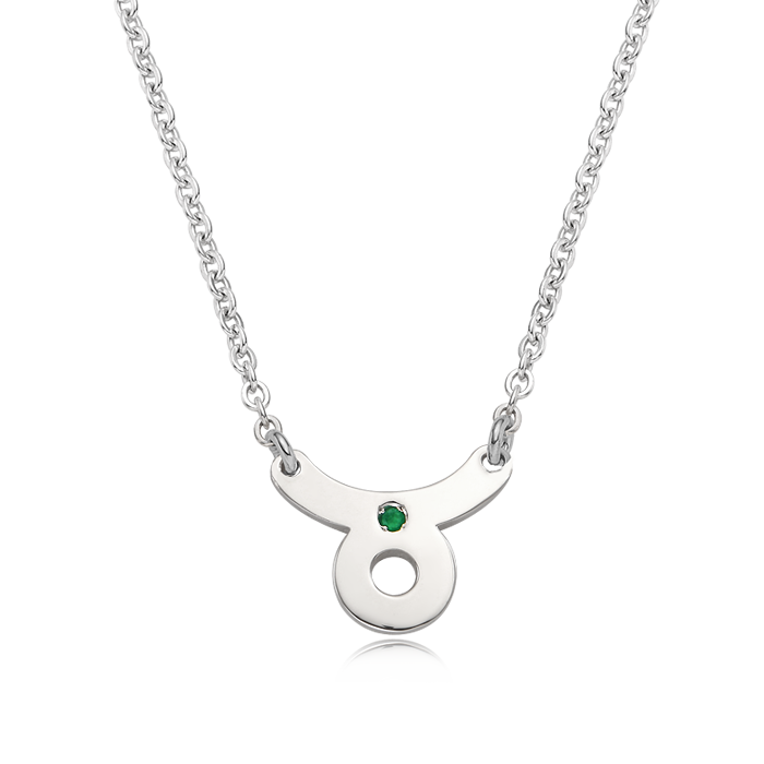 Silver Taurus (April 20 ~ May 20) Zodiac Sign Necklace