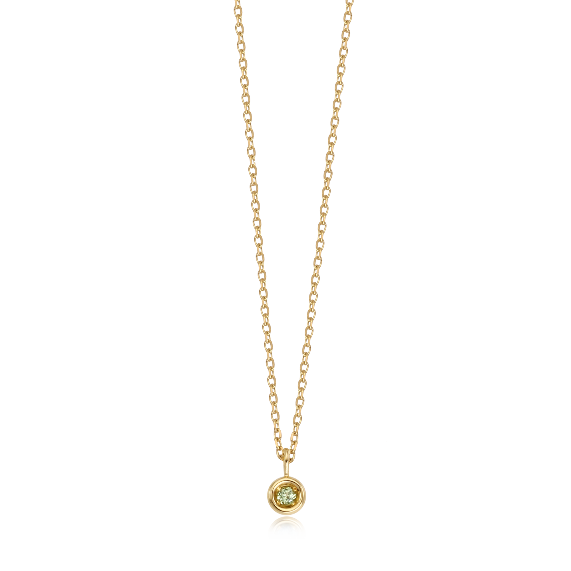 14K/18K Gold August Peridot Natural Birthstone Necklace - Lucky Gem