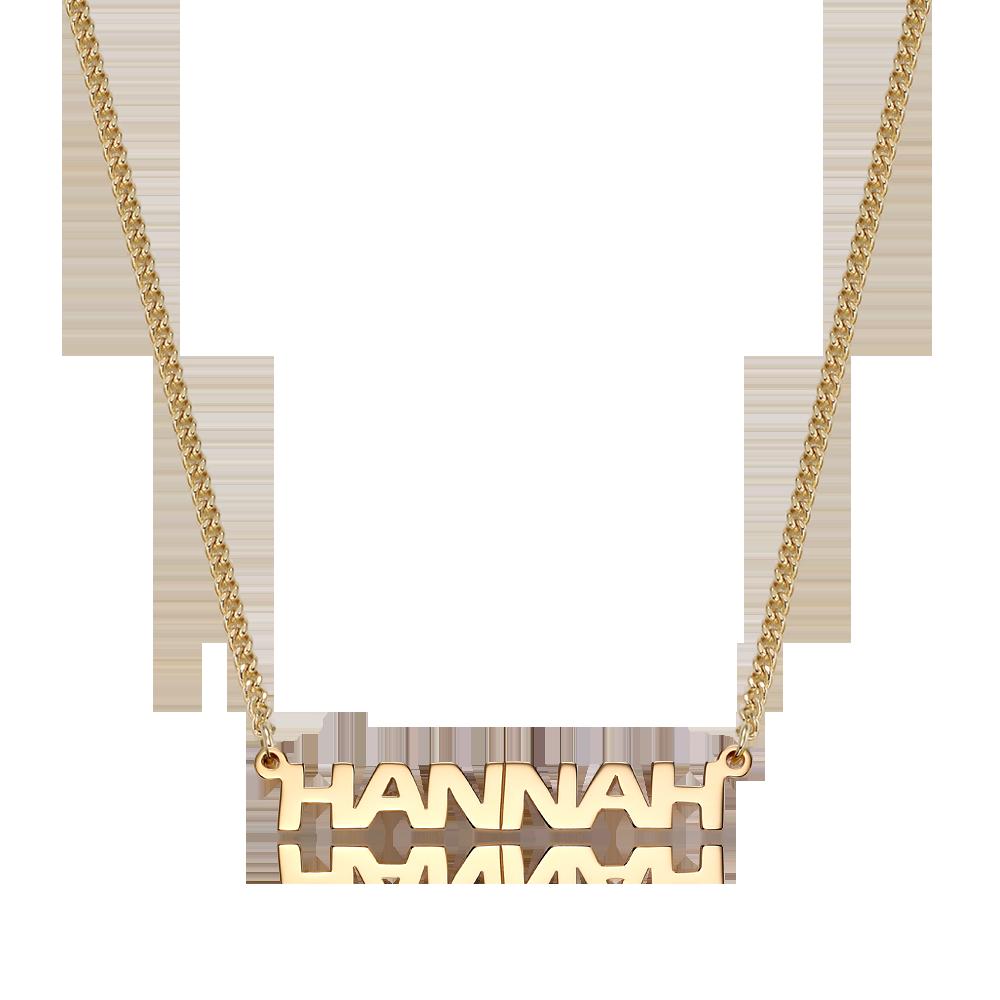 Adult 14K/18K Gold Erasbold S Name Necklace