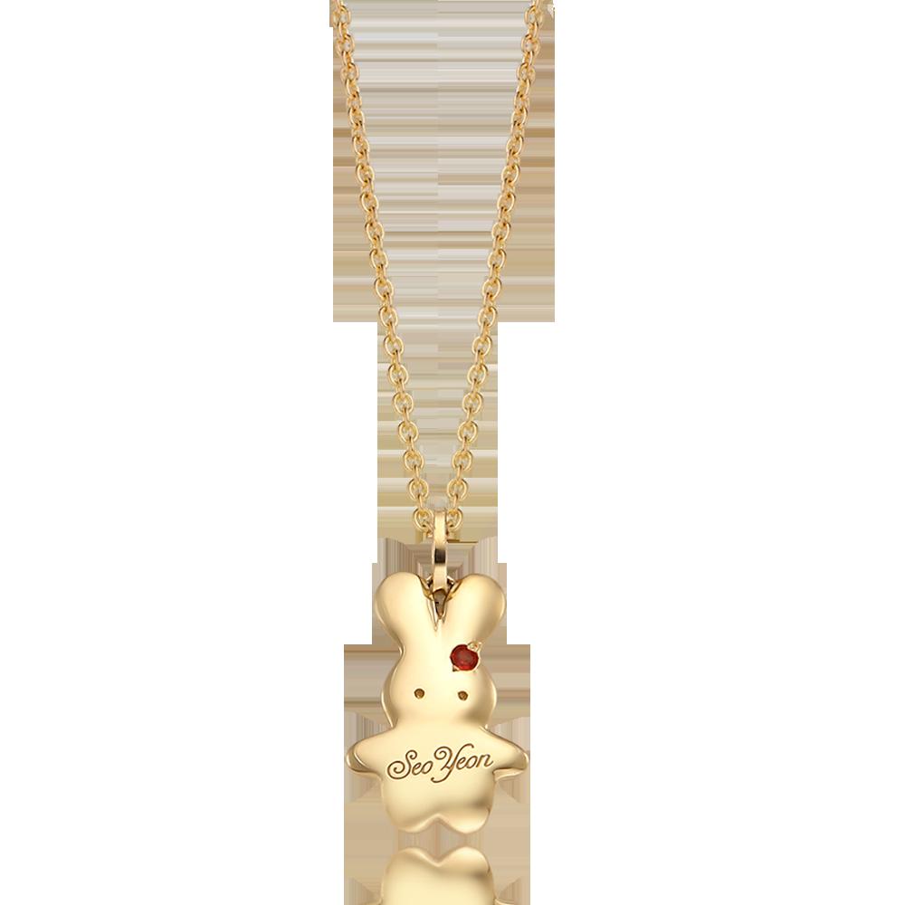 토끼 아기금목걸이