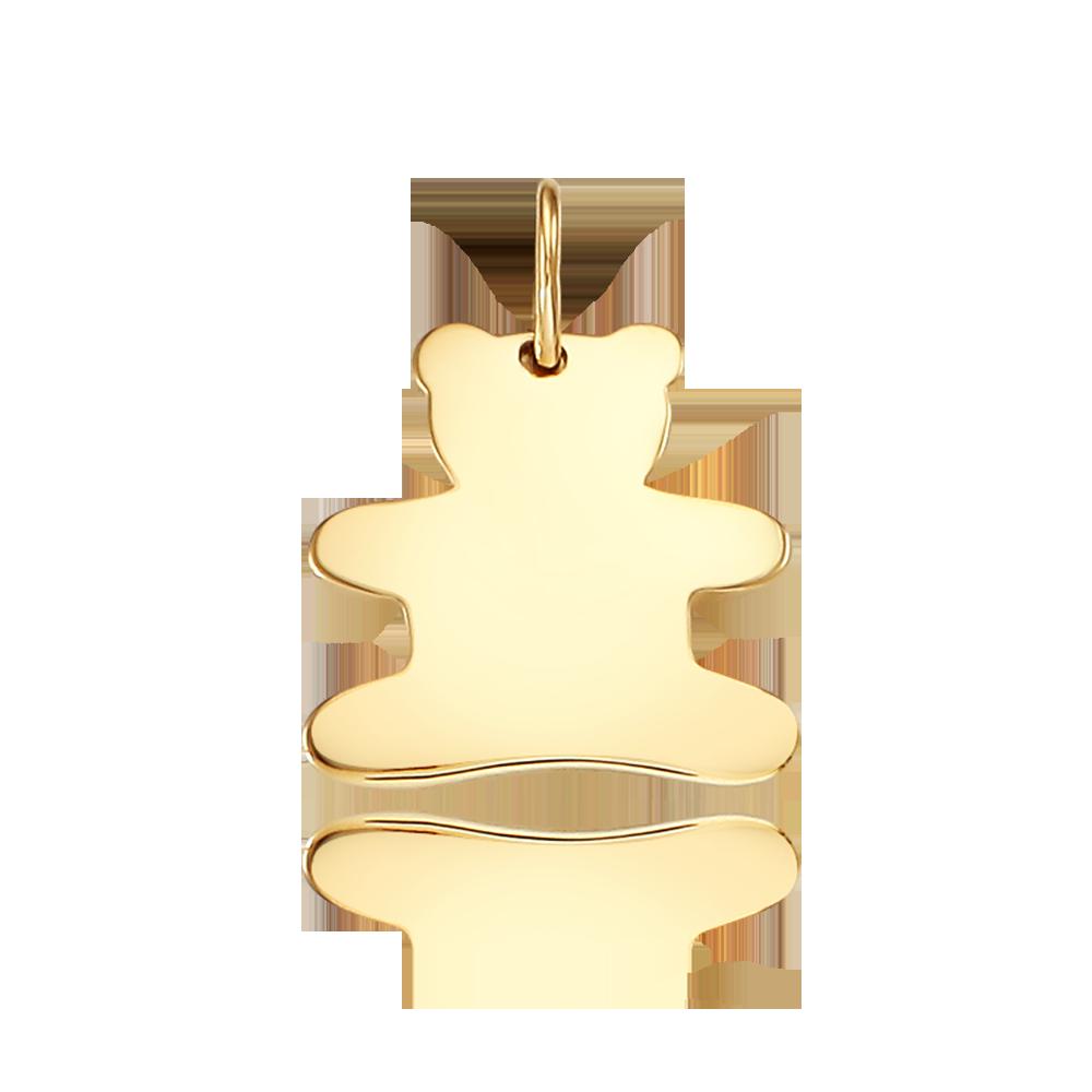 14k/18k  Gold Cabin Bass Pendant
