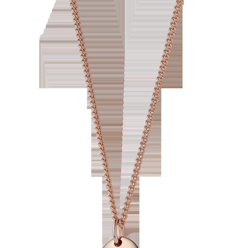 14K /18K Gold 1.0 Curb Chain 80cm(77+3cm)