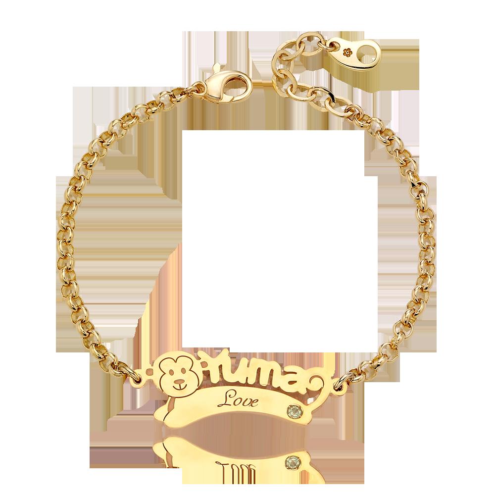 14K/18K Gold Oriental Zodiac Name  Bracelet