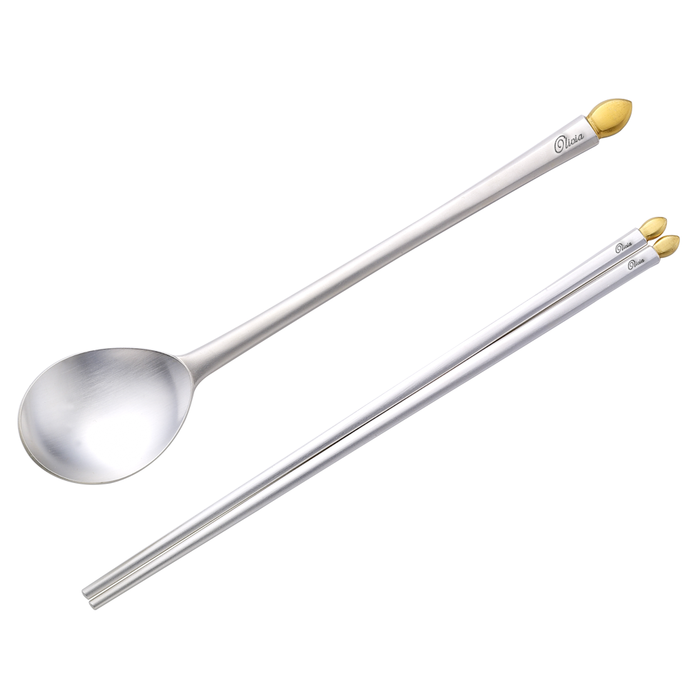 Special Gifts Roundtable Adult Silver Spoon (Spoon + Chopsticks)-Silver 99% / Personalized