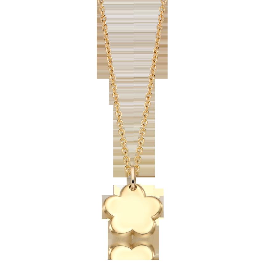 14K / 18K Gold Baby Flower Necklace