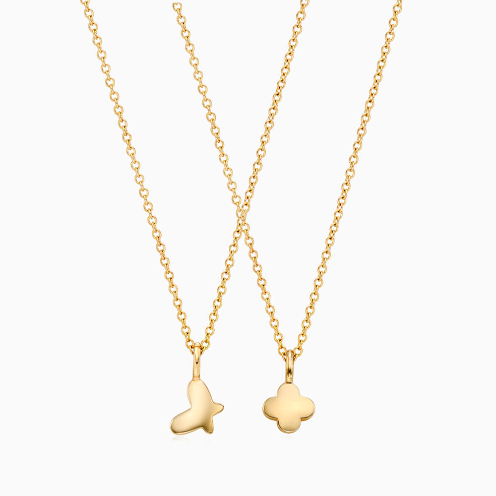 [With my friend] 14K/18k gold wish necklace engraved with a friend