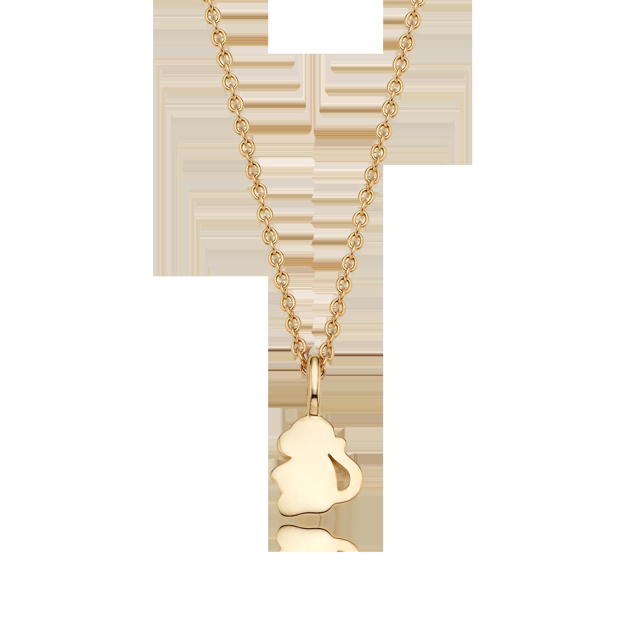 14K/18K Gold Mini Zodiac Monkey - My Guardian Animal Necklace