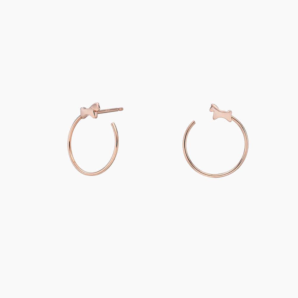 14k Rose Gold Elle Kaiu E3 Earrings No.7-Horse