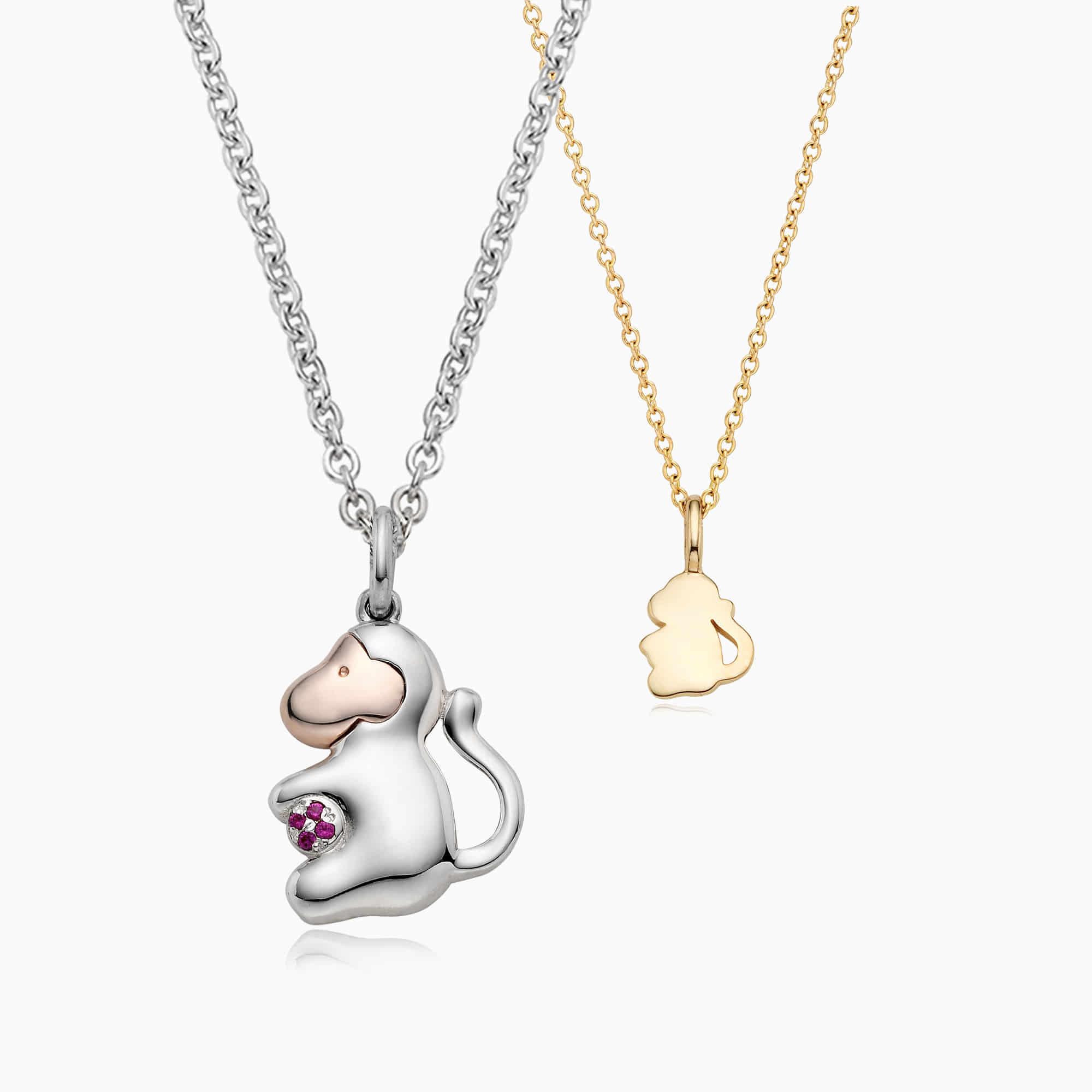 [With My Child] Silver/ 14K/18K 12 Zodiac Necklace