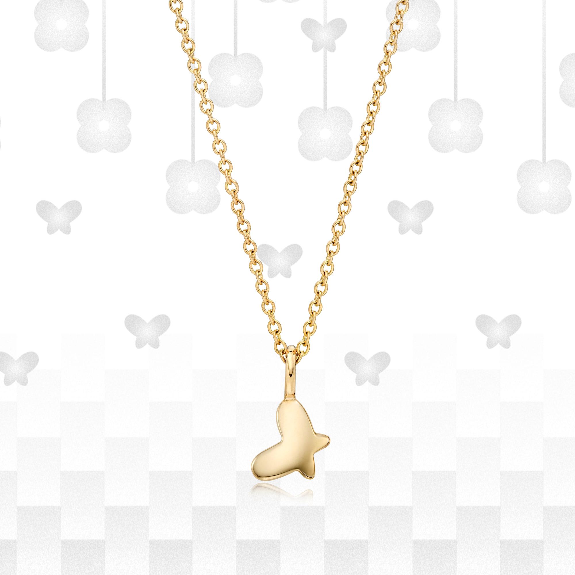 14K/18k Gold Kaiu Hope Necklace - Butterfly Necklace