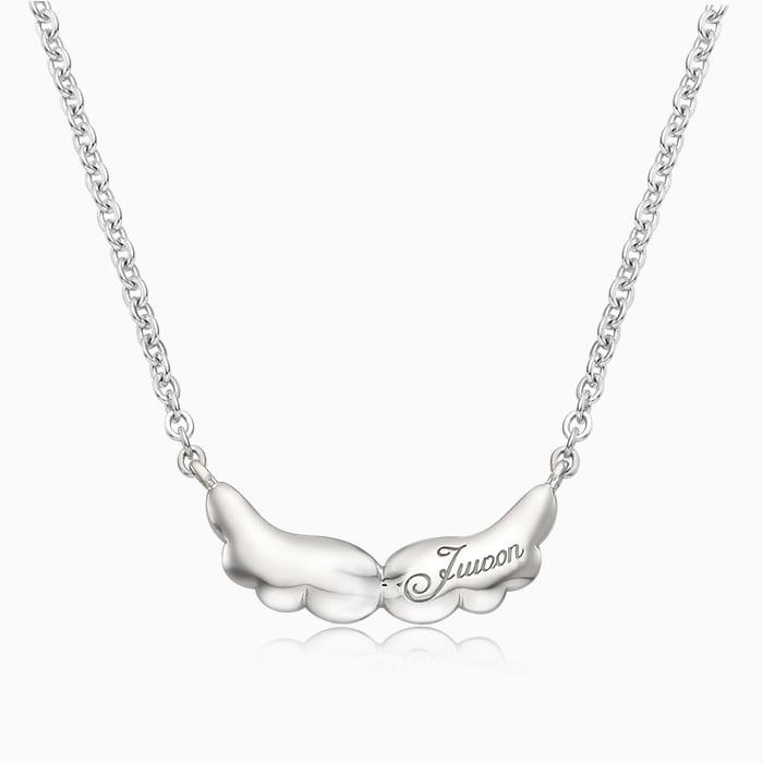 宝贝天使银项链