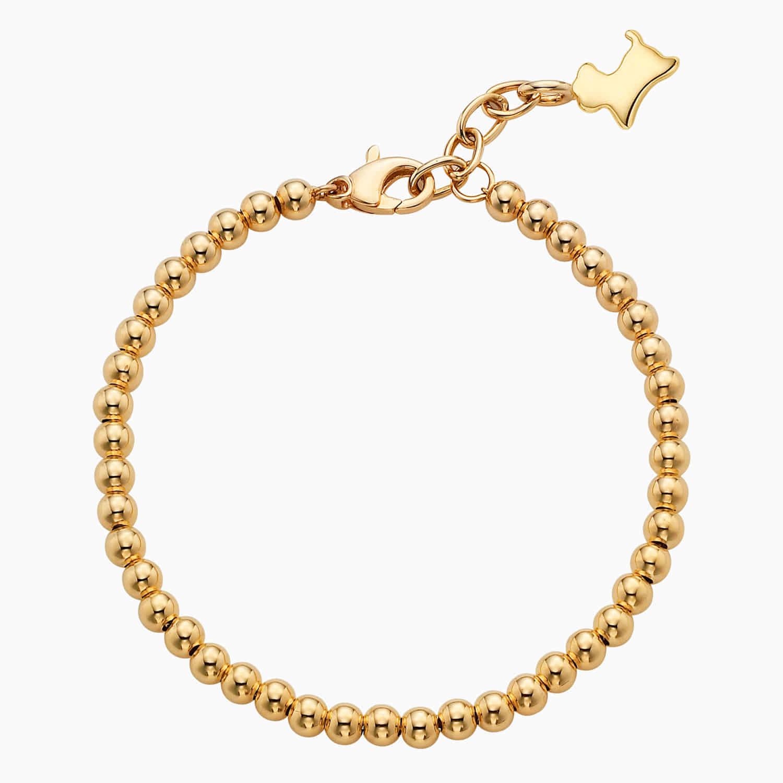 14K/18K Gold 12 Oriental Zodiac Pendant  3mm Beads Bracelet-for children