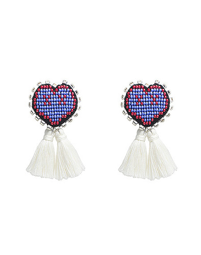 XOXO Heart earring_WT