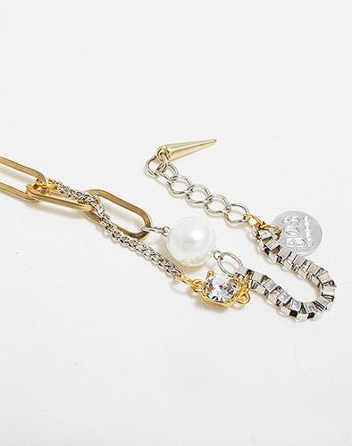 Pearl chain mix bracelet