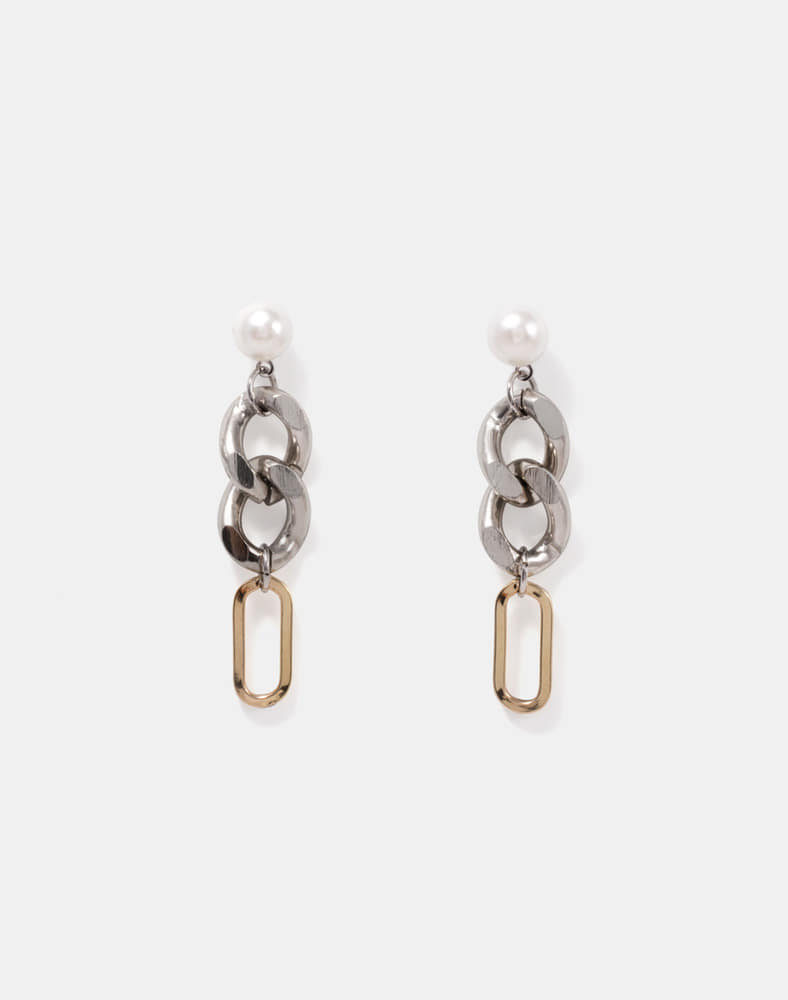 Pearl Mix Chain Drop earring