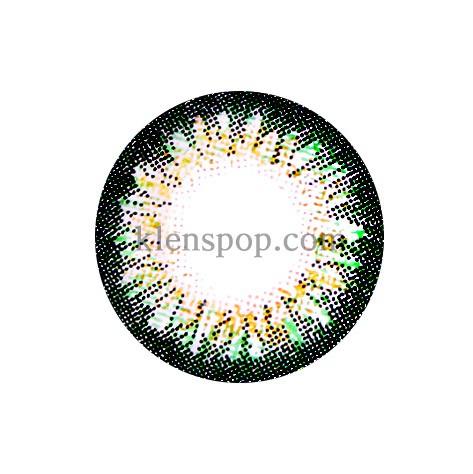 BUNNY 3 COLOR DAISY GREEN Graphic Diameter 14.5mmLENSPOPLENSPOP
