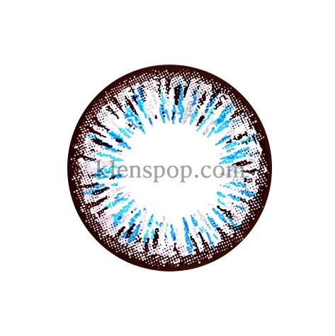 ELLEN PANDA BLUE (4COLOR) Graphic Diameter 14.5mmLENSPOPLENSPOP