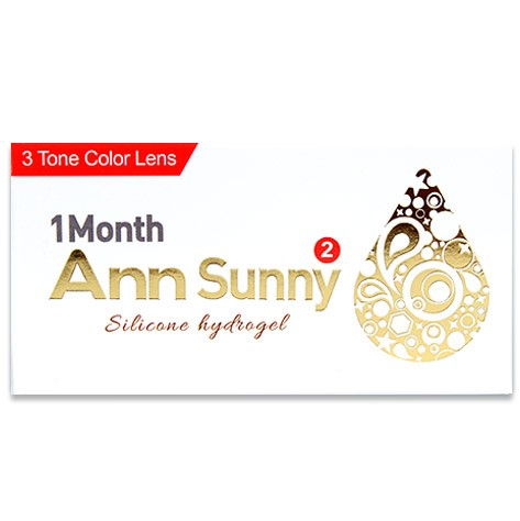 Ann Sunny (2pcs) (Silicone Hydrogel) Monthly G.DIA 13.4mmANNLENSPOP