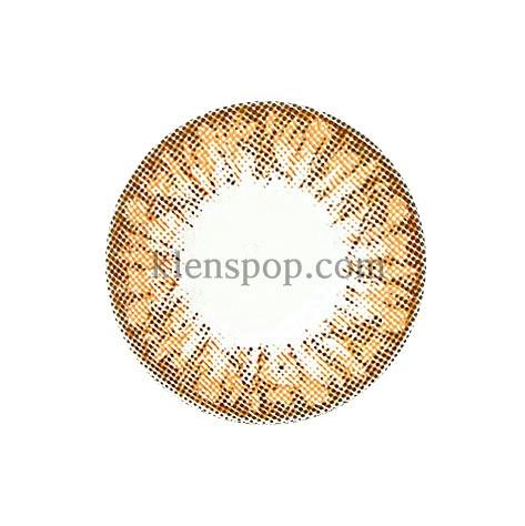 EYEVELYN GRANG BROWN  Graphic Diameter 13.1mm  SILICONE HYDROGELGEOLENSPOP