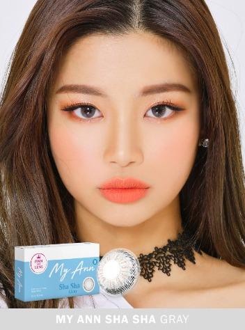 My Ann Sha Sha Gray (2pcs) Monthly G.DIA 13.0mmANNLENSPOP