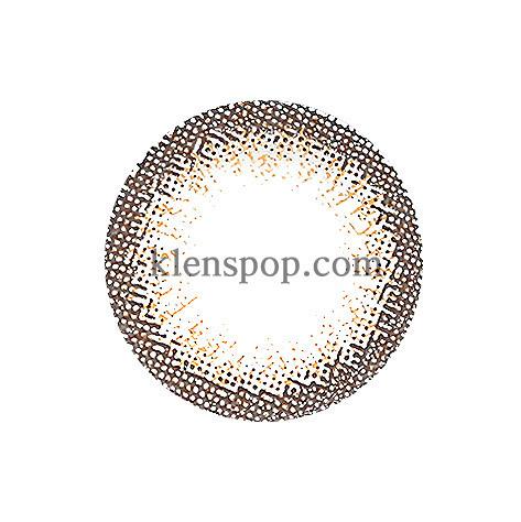 MEILI BROWN Graphic Diameter 13.5mmCI VISIONLENSPOP