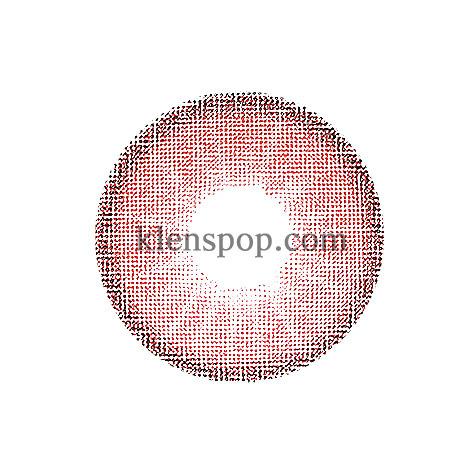Hybrid Edge Red (1pair) 6Monthly G.DIA 13.2mmCI VISIONLENSPOP
