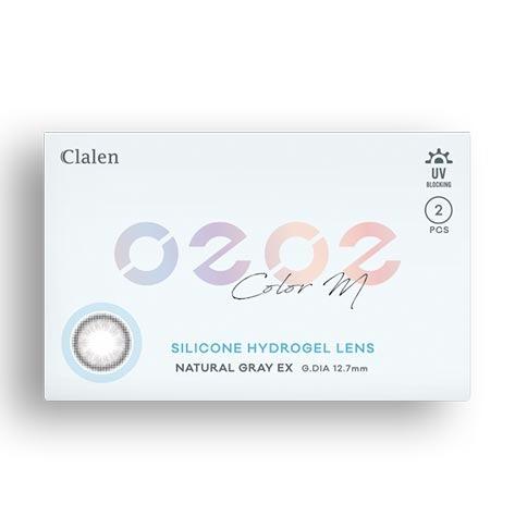 Clalen O2O2 Color M Natural Gray EX (2pcs) (Silicone Hyerogel) 1Monthly G.DIA 12.7mmINTEROJOLENSPOP