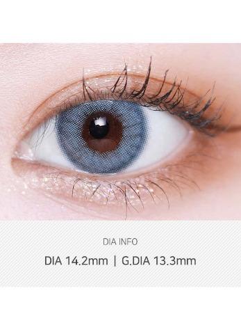 Silhouette Blue Gray  (2pcs) (Buy 1 Get 1 Free) 1Monthly G.DIA 13.3mmLENSVERYLENSPOP