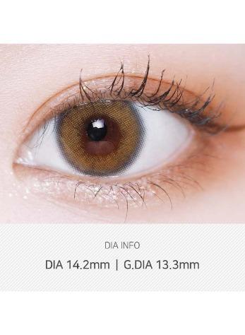 Silhouette Sheer Brown  (2pcs) (Buy 1 Get 1 Free) 1Monthly G.DIA 13.3mmLENSVERYLENSPOP