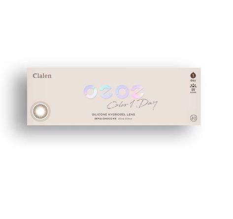 Clalen O2O2 Color 1Day Sepia Choco EX (30pcs) (Silicone hydrogel) G.DIA 12.9mmINTEROJOLENSPOP
