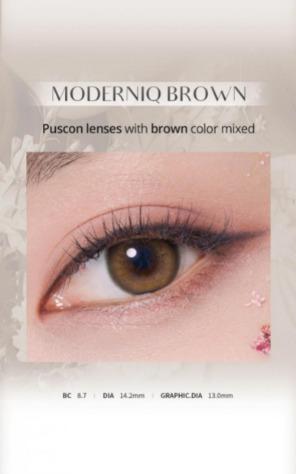 Moderniq 1Day Brown (20pcs) (Puscon) 1Day G.DIA 13.0mmGEOLENSPOP