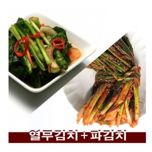 (촌놈김치) 국내산 당일생산 열무김치2kg+파김치1kg